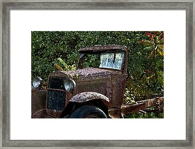 Old Rusty Framed Print by Ross Powell
