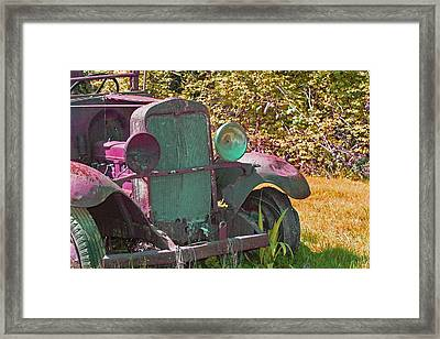 Old Rusty Truck C1002 Framed Print by Mary Gaines