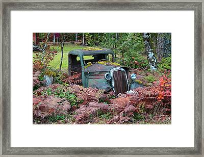 Old Rusty Truck I C1000 Framed Print by Mary Gaines