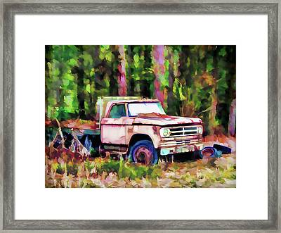 Old Rusty Truck Framed Print by Lanjee Chee