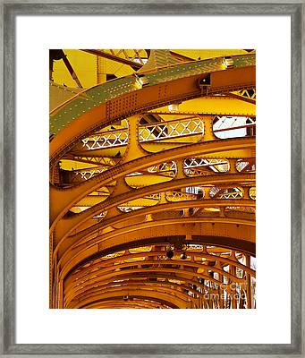 Old Sacramento Tower Bridge In Abstract . 7d11567 Framed Print by Wingsdomain Art and Photography