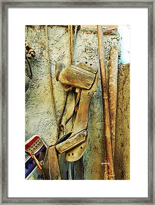 Old Saddle Tree 7900 Framed Print by David Mosby