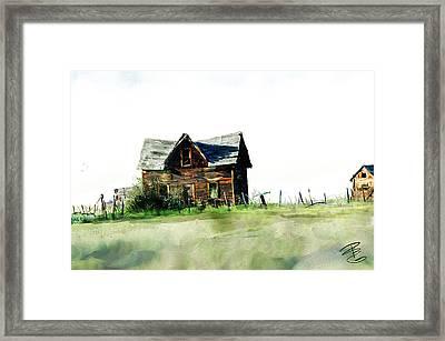 Old Sagging House Framed Print