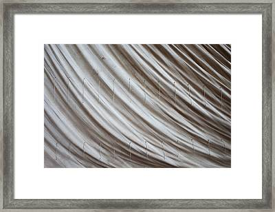 Old Sailcloth Framed Print by Artur Bogacki