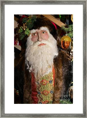 Old Saint Nick In Petaluma California Usa Dsc3765 Framed Print by Wingsdomain Art and Photography
