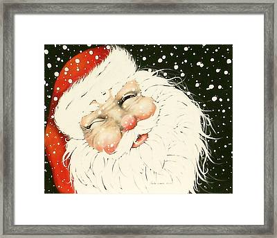 Old Saint Nick Framed Print by Paula Weber