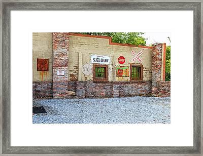 Old Saloon Wall Framed Print
