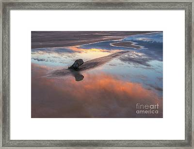 Framed Print featuring the photograph Old Saltair Reflection by Spencer Baugh