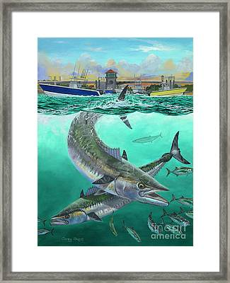 Old Salts Framed Print by Carey Chen