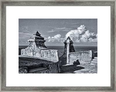 Old San Jaun Fort Framed Print