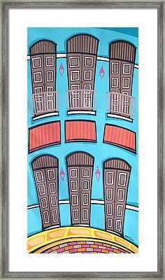 San Juan Alegre-2 Framed Print by Mary Tere Perez