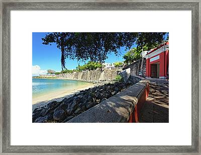 Old San Juan City Gate  Framed Print by George Oze