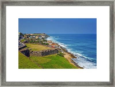 Old San Juan Coastline Framed Print by Stephen Anderson