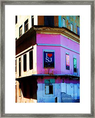 Old San Juan Framed Print by Daniele Smith