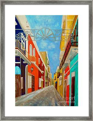Old San Juan Framed Print by Eloise Schneider