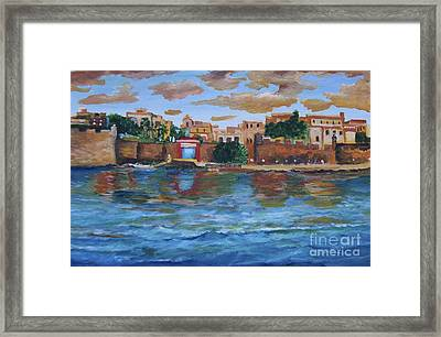Old San Juan Gate, 4x6 In. Original Is Sold Framed Print