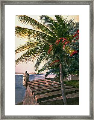 Old San Juan  Framed Print by George Bloise