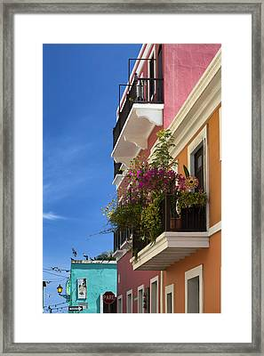 Framed Print featuring the photograph Old San Juan by Patrick Downey