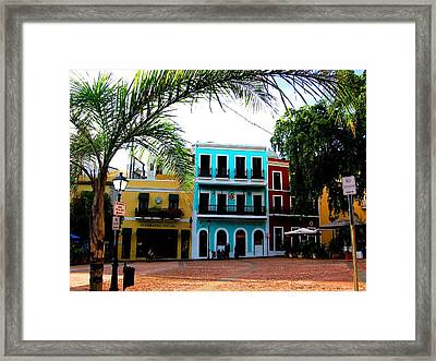 Framed Print featuring the photograph Old San Juan Pr by Michelle Dallocchio
