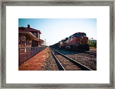 Old Santa Fe Depot Framed Print by David Waldo