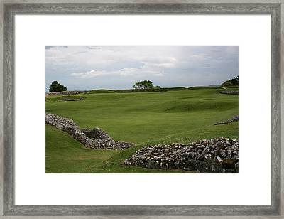 Old Sarum Framed Print by Mary Mikawoz