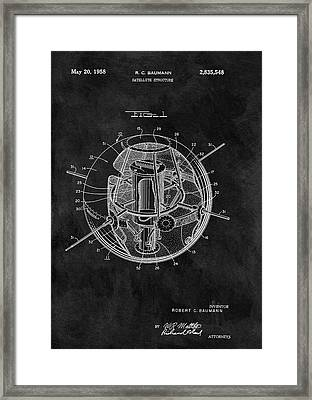 Old Satellite Patent Framed Print by Dan Sproul