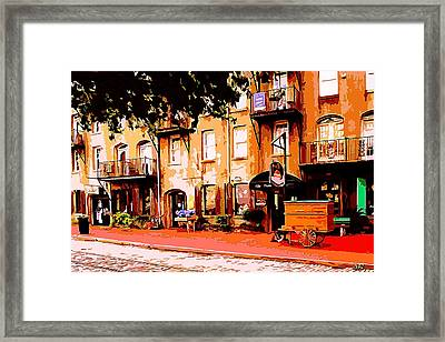 Old Savannah Framed Print