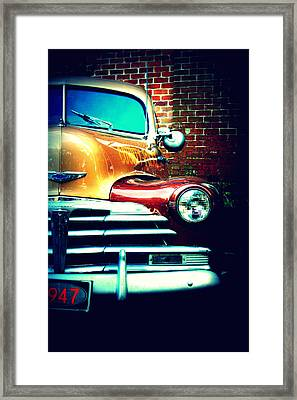 Old Savannah Police Car Framed Print
