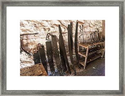 Old Saw Shed Framed Print by Niel Morley
