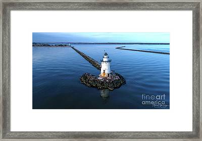 Old Saybrook Outer Lighthouse Framed Print