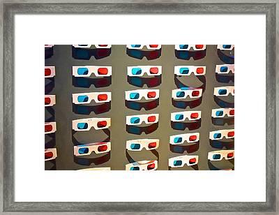 Old School 3-d Framed Print by Eliza McNally