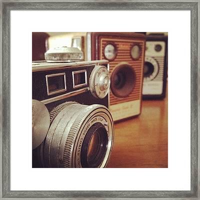Old School Cameras Framed Print