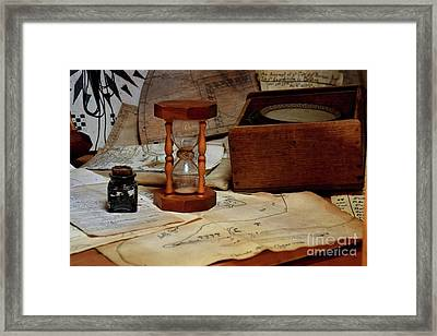 Old School Charts And Graphs 13935  Framed Print by Anna Gibson