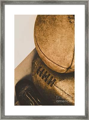 Old School Football Framed Print