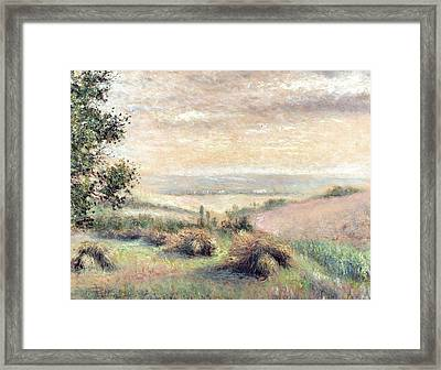 Old School Harvest Framed Print