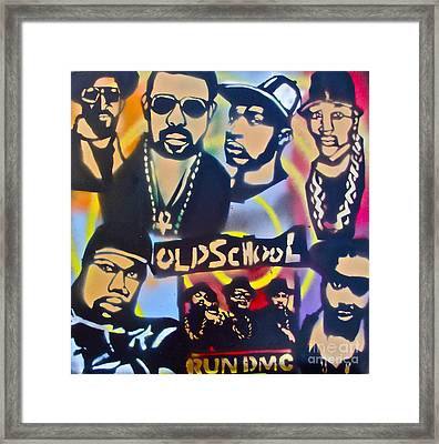 Old School Hip Hop 3 Framed Print