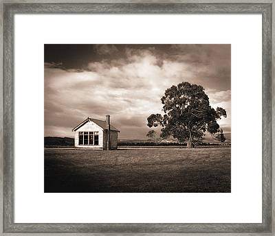 Old School House, Otahu Flat, New Zealand Framed Print by Maggie McCall