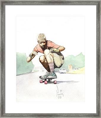 Old School Skater Framed Print by Preston Shupp