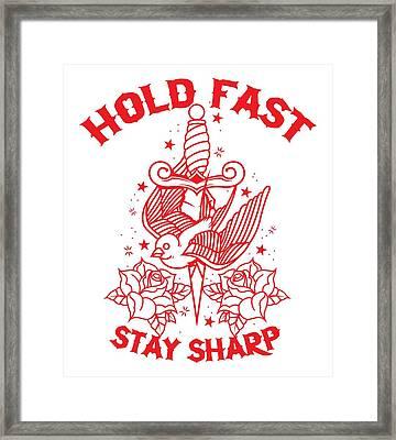 Old School Tattoo Framed Print