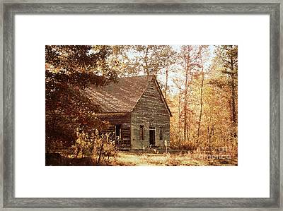 Old Church - Vintage Framed Print by Anita Faye