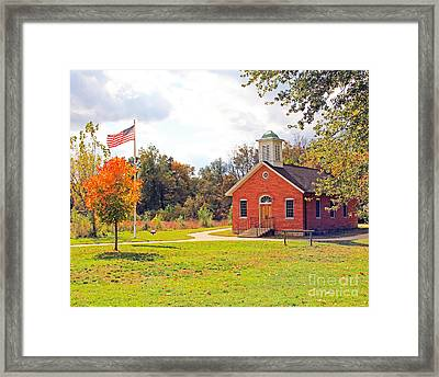 Old Schoolhouse-wildwood Park Framed Print