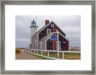 Old Scituate Lighthouse Framed Print