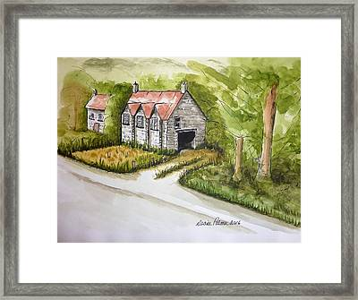 Old Scottish Stone Barn Framed Print by Diane Palmer