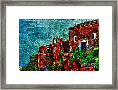 Old Sea House  Framed Print