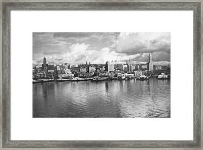 Framed Print featuring the photograph Old Seattle 1949 by USACE-Public Domain