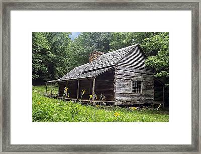 Old Settlers Cabin Smoky Mountains National Park Framed Print