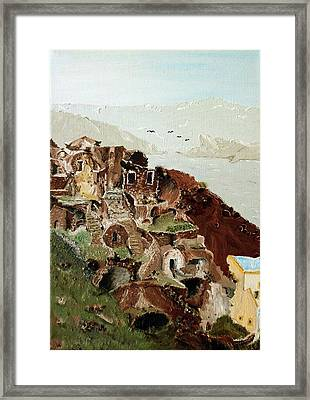 Old Settlment Framed Print