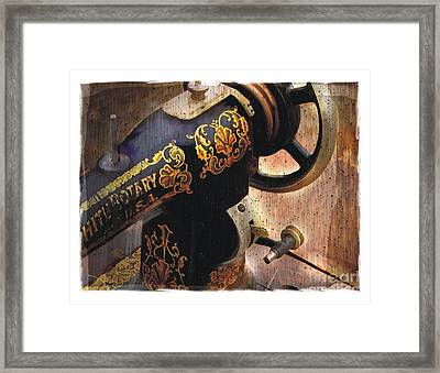 Old Sewing Machine Framed Print by Bob Salo