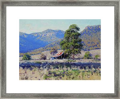 Old Shed Hartley Framed Print by Graham Gercken