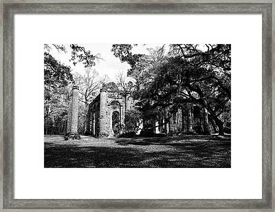 Old Sheldon Church  Framed Print by Gary Wightman